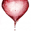 Red Wine Abstract Heart Splash — Stock Photo