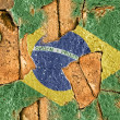 Royalty-Free Stock Photo: Grunge Flag Of Brazil.