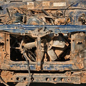 Front remains of the old car. — Stock Photo