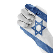 Israel Flag On Hand. — Stock Photo