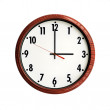 Stock Photo: Clock wood grain frame