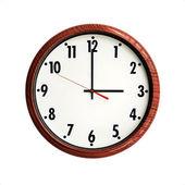 时钟木纹帧 — 图库照片