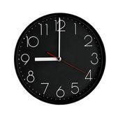 Черный Часы пластиковая рама. — Стоковое фото