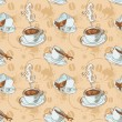 Royalty-Free Stock Vector Image: Coffee cups seamless pattern