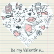 Royalty-Free Stock Векторное изображение: Doodle Valentine