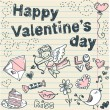 Royalty-Free Stock 矢量图片: Doodle Valentine