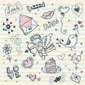 Doodle valentine — Stockvektor