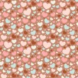 Valentine seamless pattern with hearts — Stock Vector #8380874