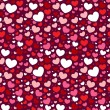 Valentine seamless pattern with hearts — Stock Vector #8380877