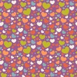 Valentine seamless pattern with hearts — Stock Vector