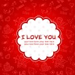 Royalty-Free Stock Vector Image: Doodle Valentine\'s day love postcard