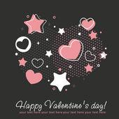 Κάρτα συγχαρητηρίων Αγίου Βαλεντίνου με την καρδιά — Διανυσματικό Αρχείο