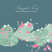 Elegant valentine kärlek blommig vykort — Stockvektor