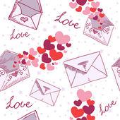 Love letter Valentine seamless texture — Stock Vector