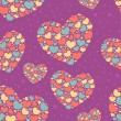 Valentine seamless pattern with hearts — Stock Vector #8494923