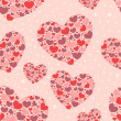 Valentine seamless pattern with hearts — Stock Vector #8494946