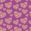 Stock Vector: Valentine seamless pattern with hearts