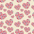 Valentine seamless pattern with hearts — Stock Vector #8494973