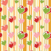 Valentine background with hearts — Stock Vector