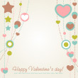 Valentine congratulation card with hearts — Stock Vector #8513180