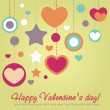 Royalty-Free Stock Vektorgrafik: Valentine congratulation card with hearts