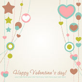 Valentine congratulation card with hearts — Stock Vector