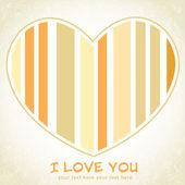 Dépouillé de coeur floral carte postale de souhaits — Vecteur