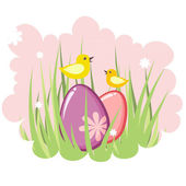Cute decorative easter tag — Vettoriale Stock
