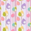 Cute easter eggs seamless pattern — Stock Vector