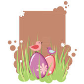 Cute decorative easter tag — Stock Vector