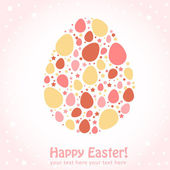 Easter egg stylized greeting card — Stock Vector