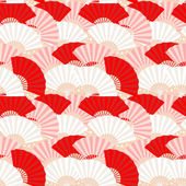 Colorful japanese fan seamless pattern — Stock Vector