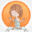 Illustration of Libra zodiac sign — Image vectorielle