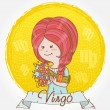 Illustration of Virgo zodiac sign — Stock Vector