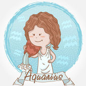 Illustration of aquarius zodiac sign — Stock Vector