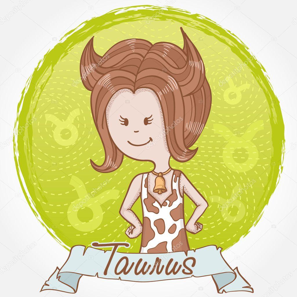 Illustrazione del segno zodiacale toro — vettoriali stock