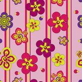 Naadloze achtergrond met bloemen — Stockvector