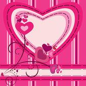Valentine motives greeting card — Stock Vector