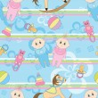 Baby seamless background — Stock Vector #8718761
