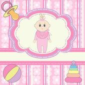 Greeting card for little girl — Stock Vector