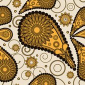 Abstract seamless paisley pattern — Cтоковый вектор