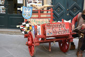 Medieval wooden wagon — Photo
