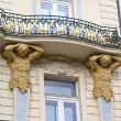 Stock Photo: Art nouveau balcony in Prague