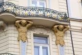 Art nouveau balcony in Prague — Stock Photo