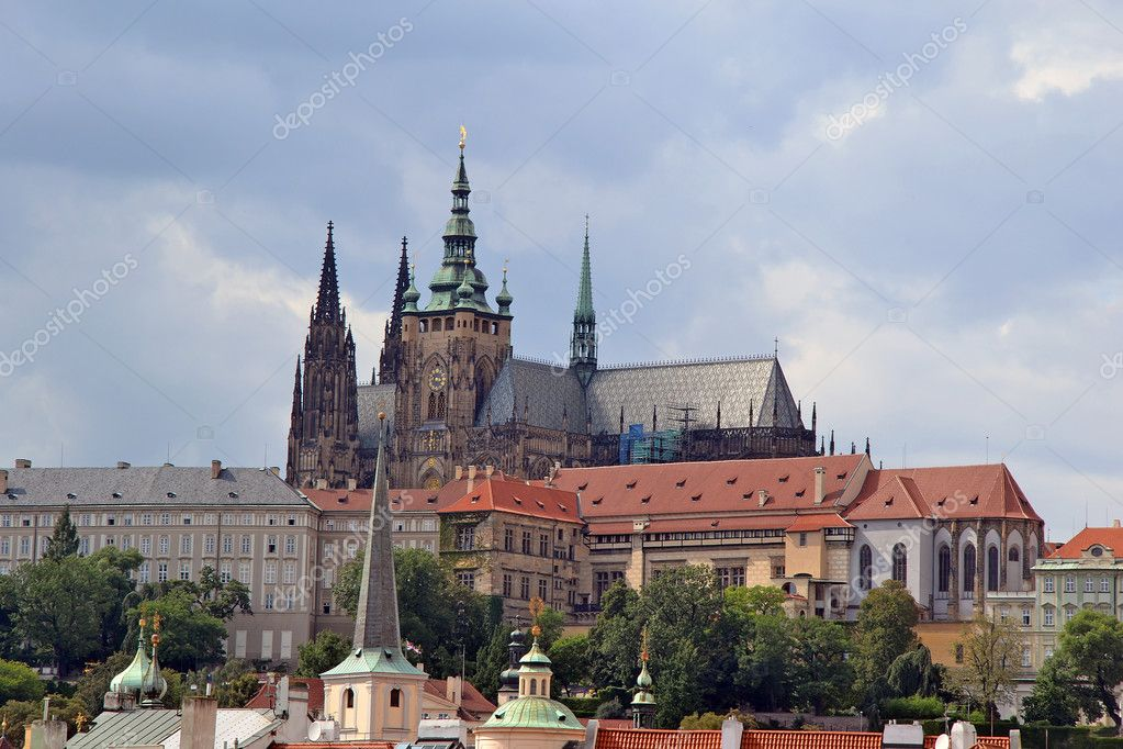 View of the Prague Castle  in the Czech Republic  Stock Photo #8070113