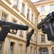Stock Photo: Guns at Artbankmuseum of Prague