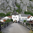 Market gate.Picturesque town in the Natural Park of 'Altmühltal, Germany. Market gate — Stock Photo #8406818