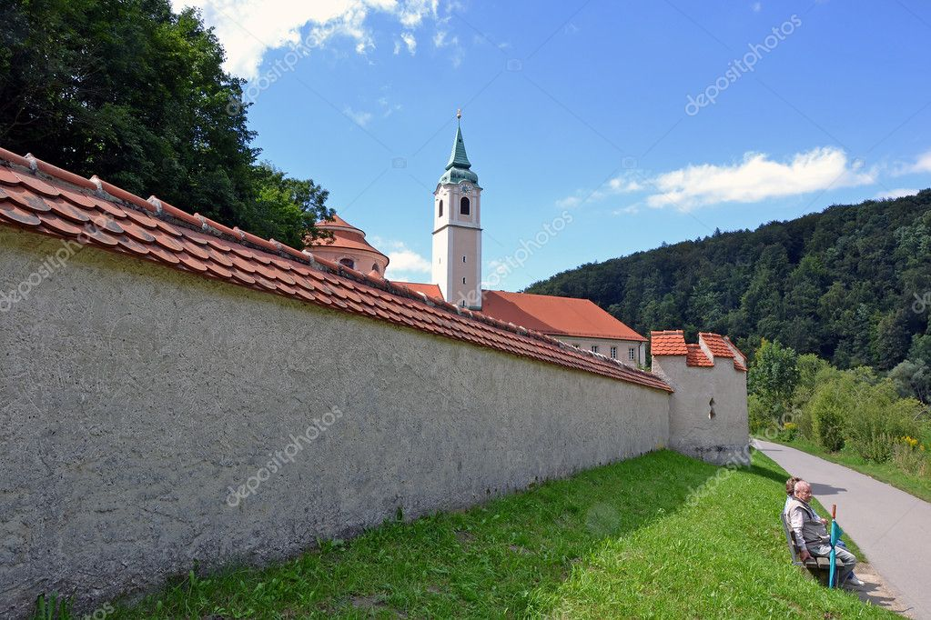 Weltenburg Abbey is a Benedictine monastery in Weltenburg in Kelheim on the Danube in Bavaria, Germany.  Stock Photo #8443814