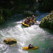 Stock Photo: Rafting and Kayaking