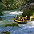 Rafting in Umbria — Stock Photo